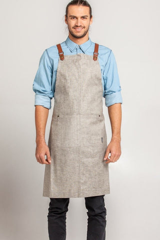 UBD ARCHER Waist Apron with PU Leather studded strap - NAVY