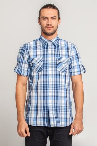 UBD Essential BLUE Spot Shirt HARRISON