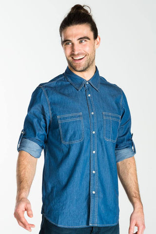 UBD 2 Pocket Denim Shirt DEXTER - PALE INDIGO