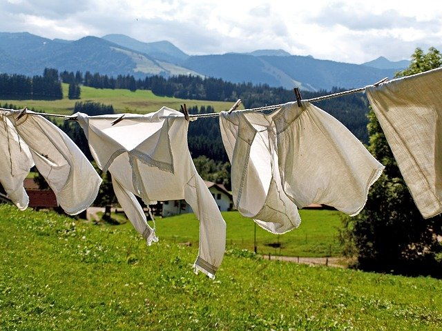 laundry in nature