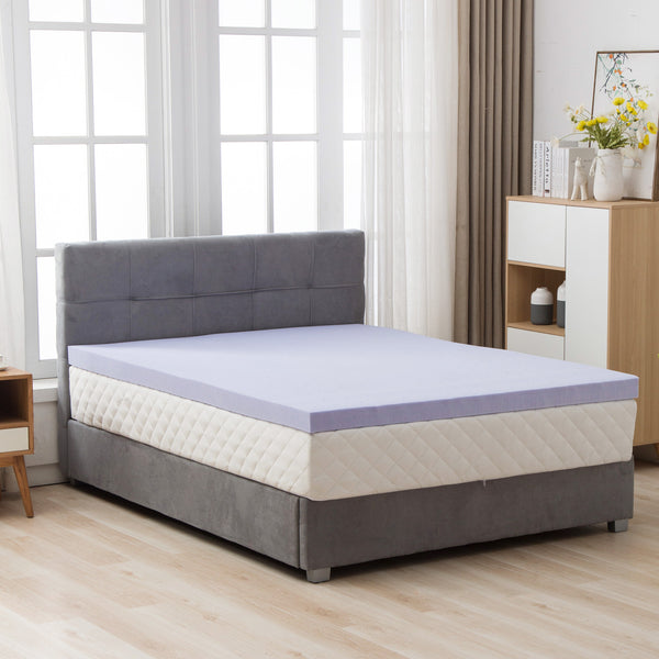 Mecor 4 Inch 4 Inch Gel Infused Memory Foam Mattress Topper - Ventilated Design, CertiPUR-US Certified Foam, Purple