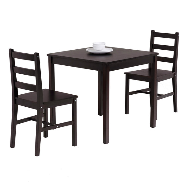 Mecor 3 PC Wood Dining Set, Wood Kitchen Table Set with 2 Chairs