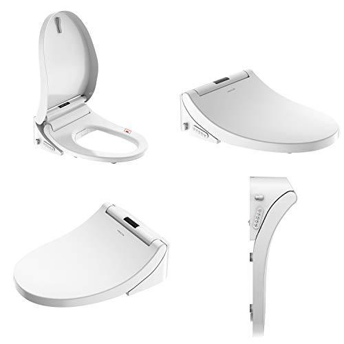 Mecor Smart Bidet Toilet Seat, Night light, Warm Air Dryer, Heated Seat, Self Cleaning Nozzle, Automatic Dry Heat, Water Pressure Adjustment