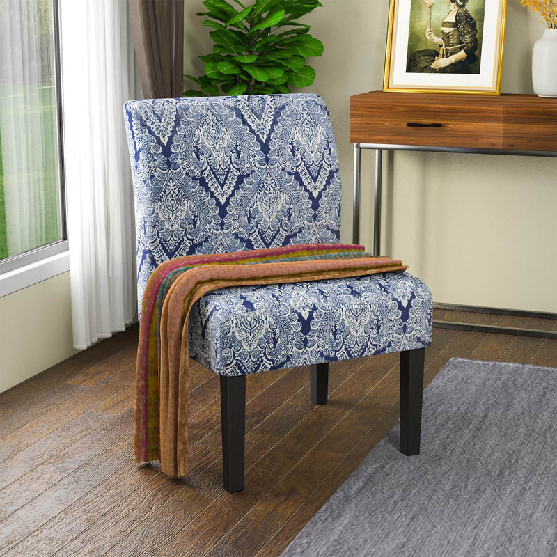 Mecor Modern Armless Accent Chairs Set of 2, Upholstered Fabric Dining Chairs w/Solid Wood Legs for Dining Living Room Sofa
