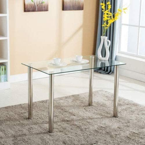 Mecor Dining Table Modern Minimallist Glass Kitchen Table