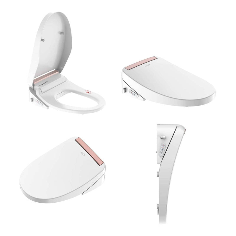 Mecor Smart Bidet Toilet Seat, Night light, Warm Air Dryer, Heated Seat, Self Cleaning Nozzle, Auto Dry Heat, Children's Cleaning