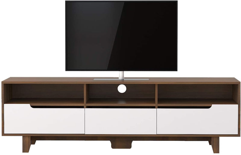 Mecor Mid-Century Modern TV Stand,TV Console Storage Cabinet for Living Room