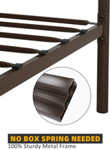 Mecor Metal Bed Frame with Vintage Headboard Footboard/Mattress Foundation/Sturdy Square Metal Frame