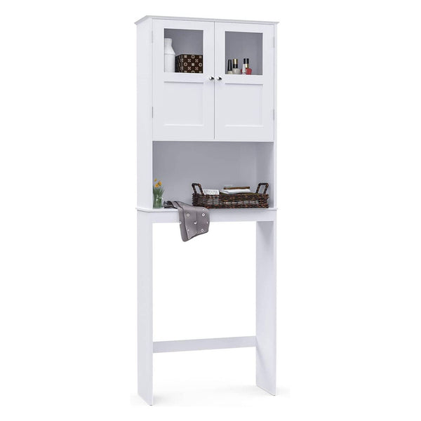 Mecor Bathroom Space Saver Cabinet, Bathroom Over-The-Toilet Space Saver Double Door