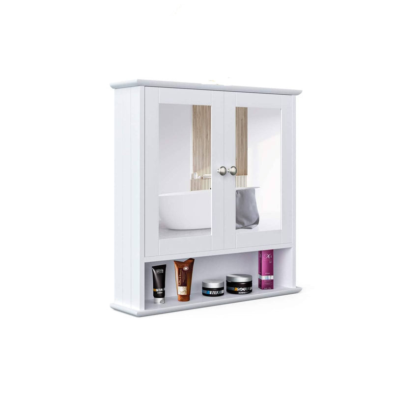Mecor Mirror Cabinet, Bathroom Wall Storage Cabinet , White