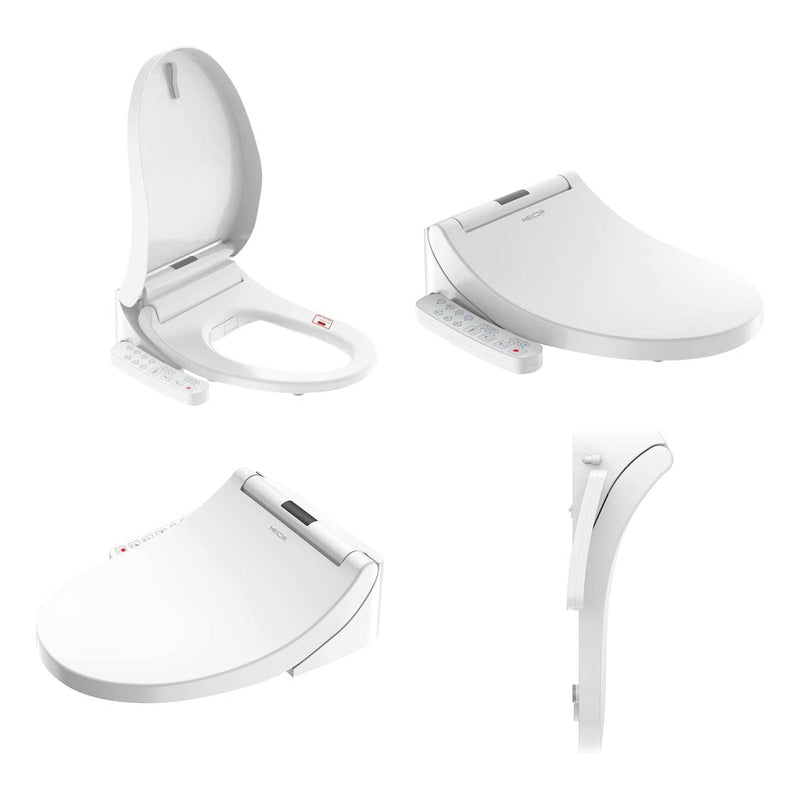 Mecor Smart Toilet Seat, Heated Seat, Self Cleaning Nozzle, Automatic Dry Heat Household Electric Multifunctional Toilet Lid, Smart Bidet Toilet Seat