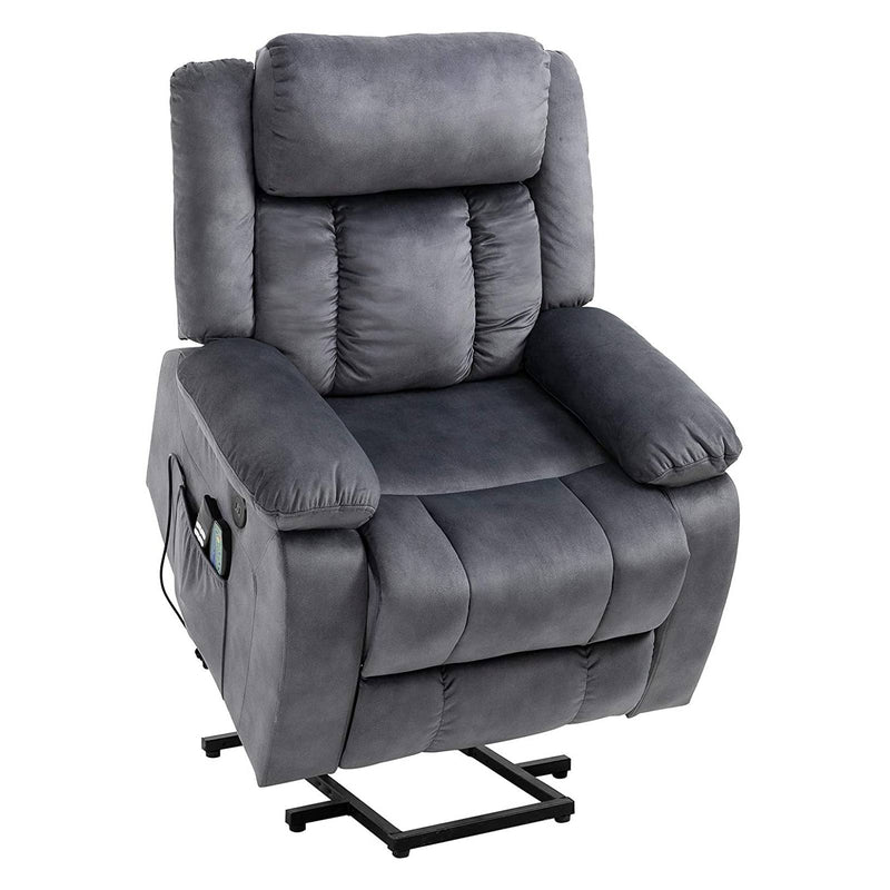 Mecor Lift Chair,Power Lift Recliner for Elderly, Fleece Massage Recliner Chair with Adjustable Headrest/Heat
