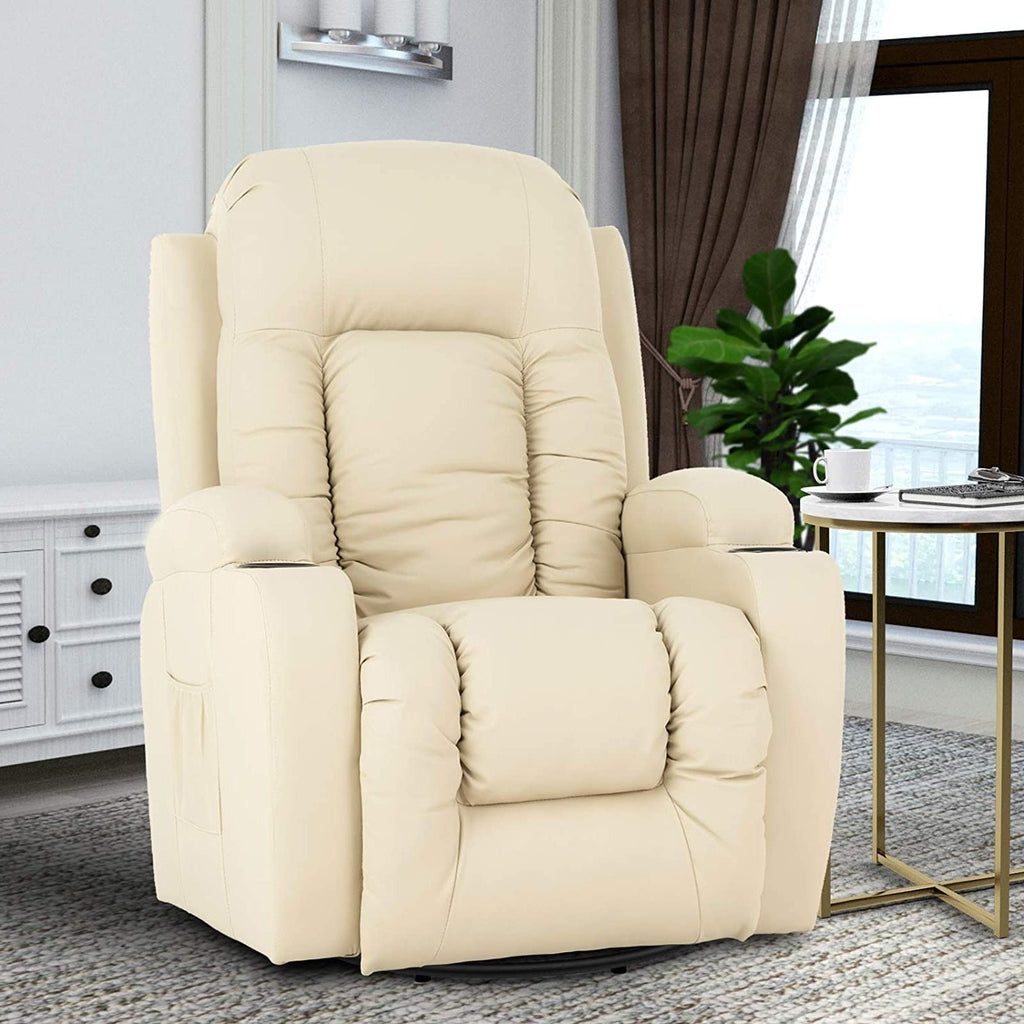Mecor Massage Recliner Chair PU Leather Rocker for Living ...