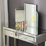 "Mecor Trifold Vanity Mirror and Solid Hinged Sided Tri-fold Beveled Mirrored Edges and Tabletop Cosmetic & Makeup Mirror 31"" x 20"""