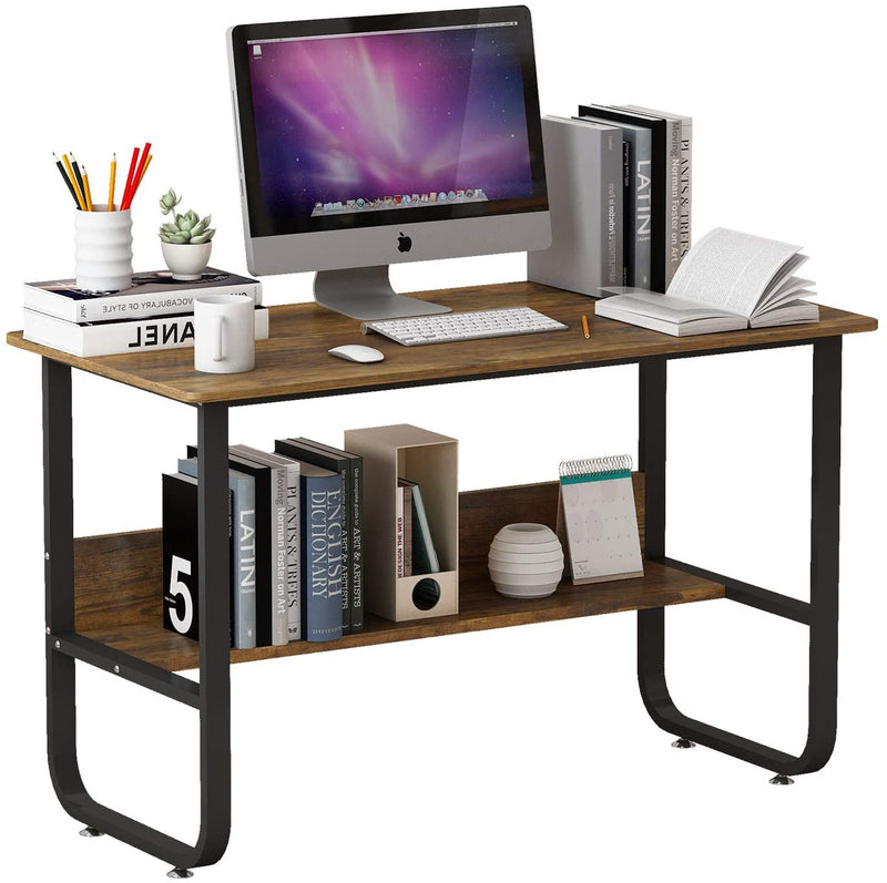 Mecor Computer Desk Modern Economic Writing Table for Home, AntiqueWalnut