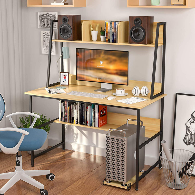Mecor Computer Desk Study Writing Table for Home Office , Yellow