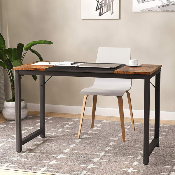 Mecor Computer Desk for Home Office, Modern Simple Style PC Desk with Splice Board, PC Laptop Study Table Workstation for Home
