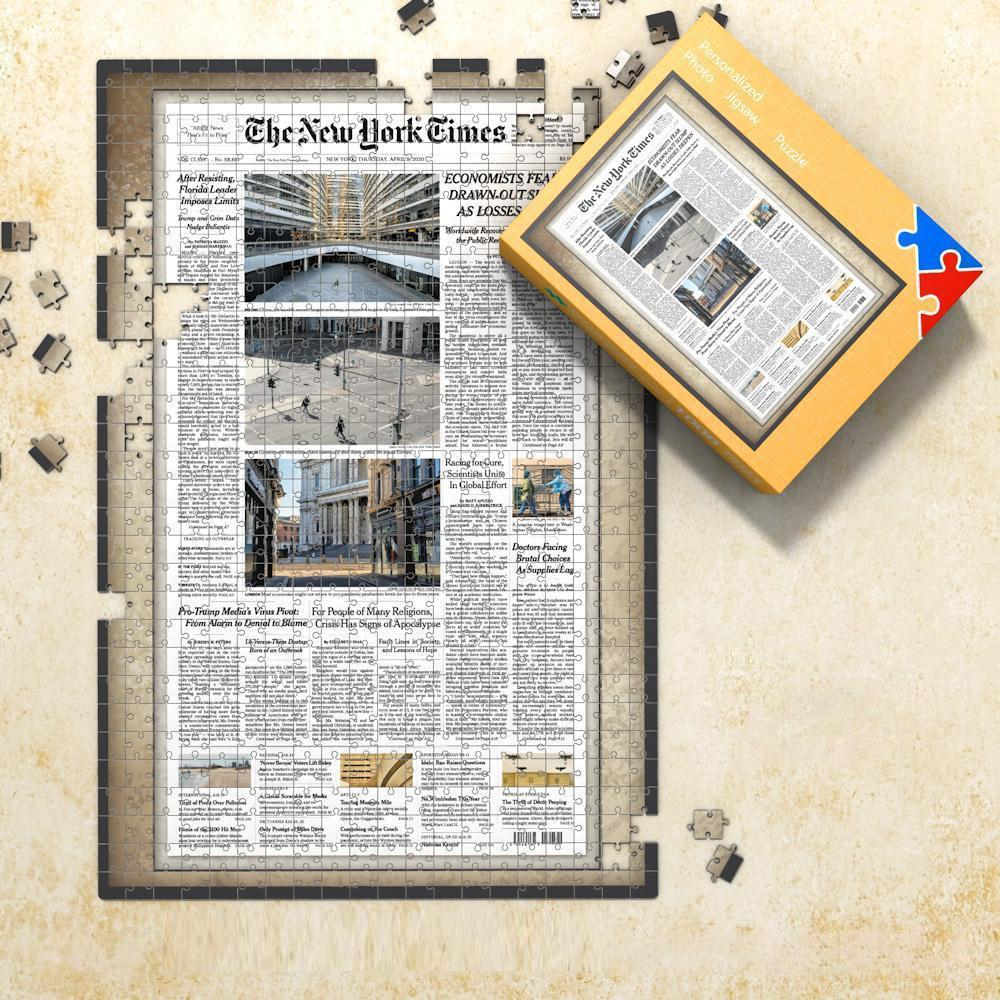 On The Day Newspapers Jigsaw Puzzle - Best Gift For Birthday And Anniversary