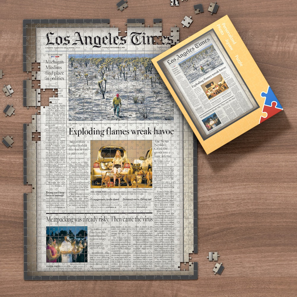 Los Angeles Times Newspapers Jigsaw Puzzle