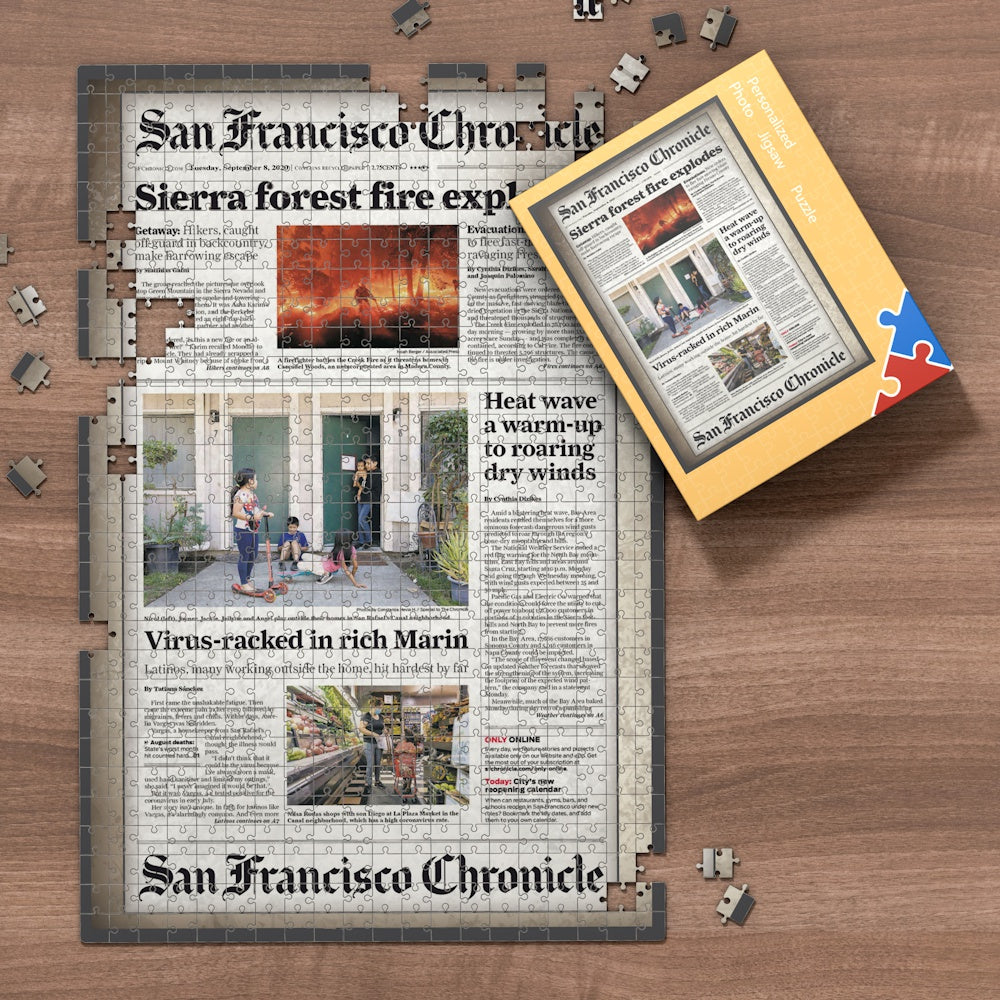 San Francisco Chronicle Newspapers Jigsaw Puzzle