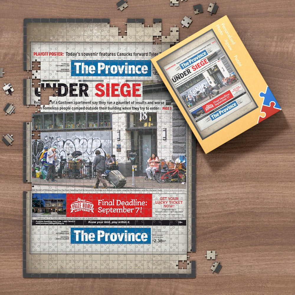 Canada Newspapers Jigsaw Puzzle - The Province