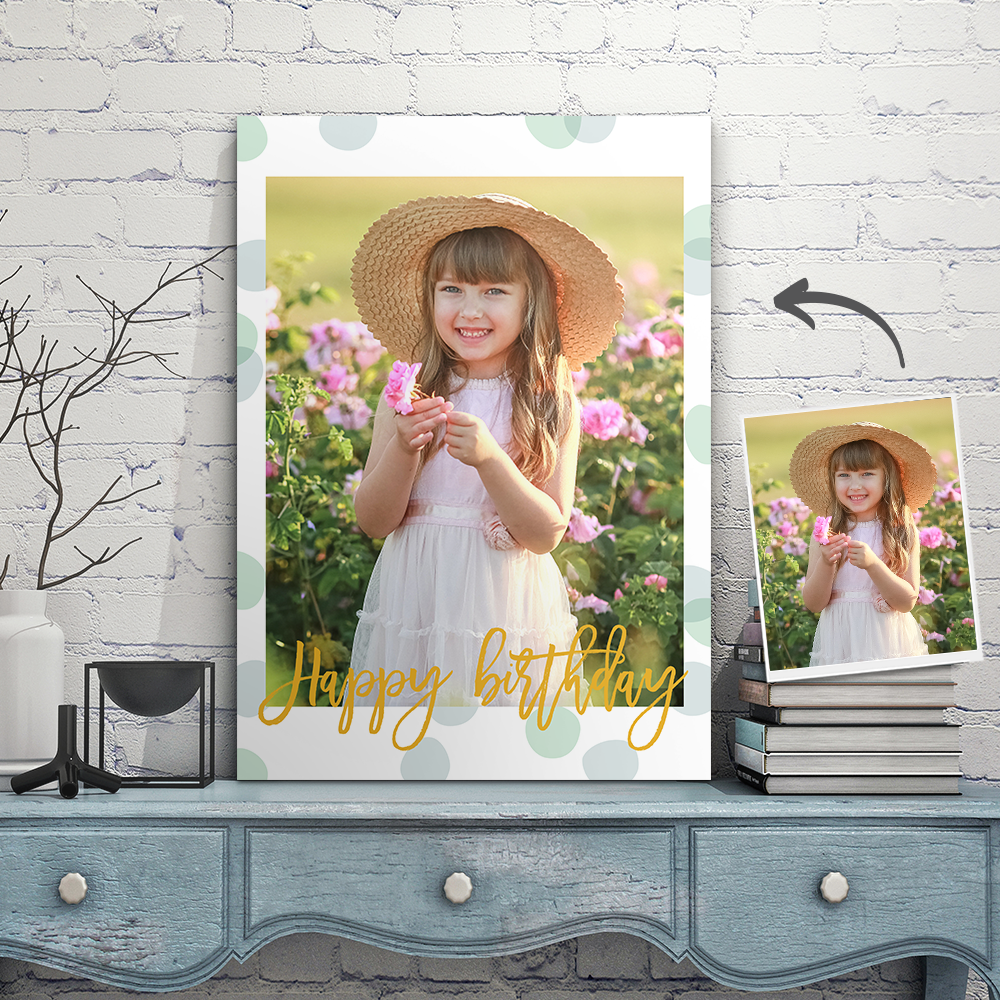 Customize Canvas Wall for Home Decor The Picture Print On Canvas-Happy Birthday