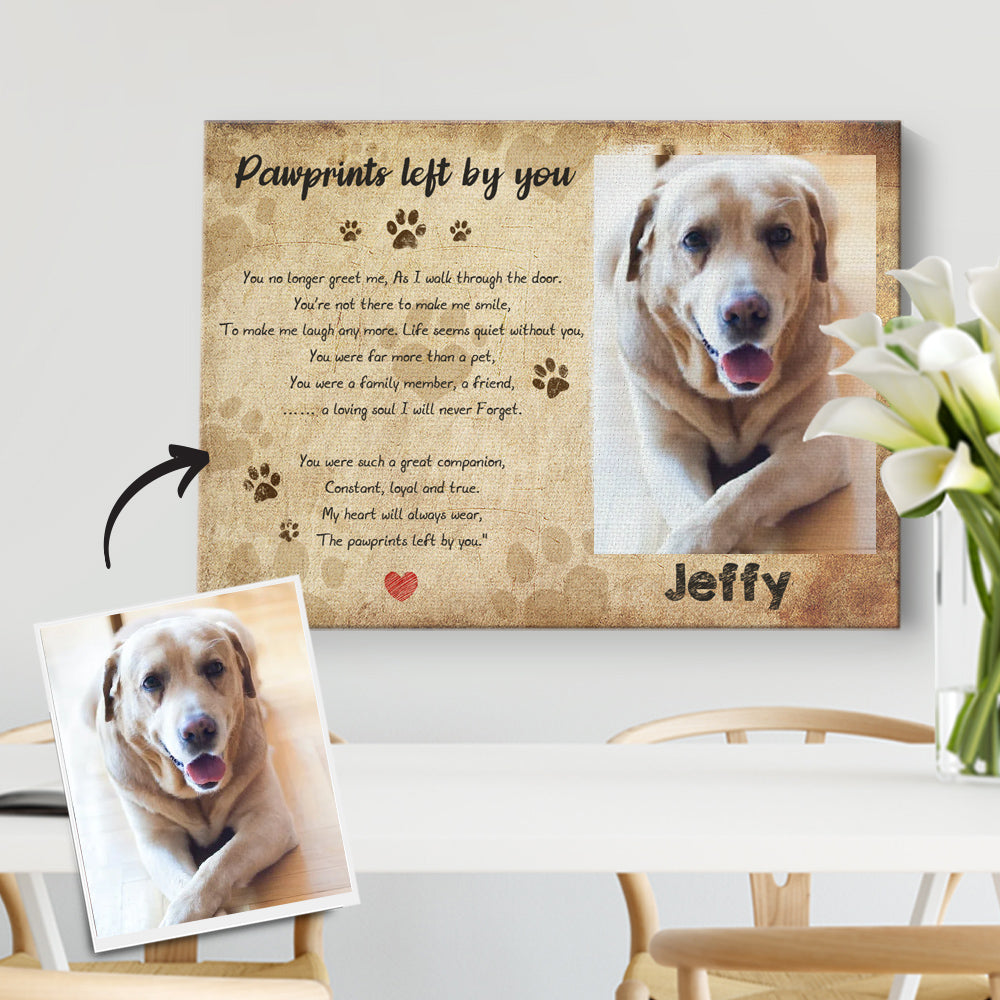 Custom Pet Memorial Photo Canvas - Forever in My Heart