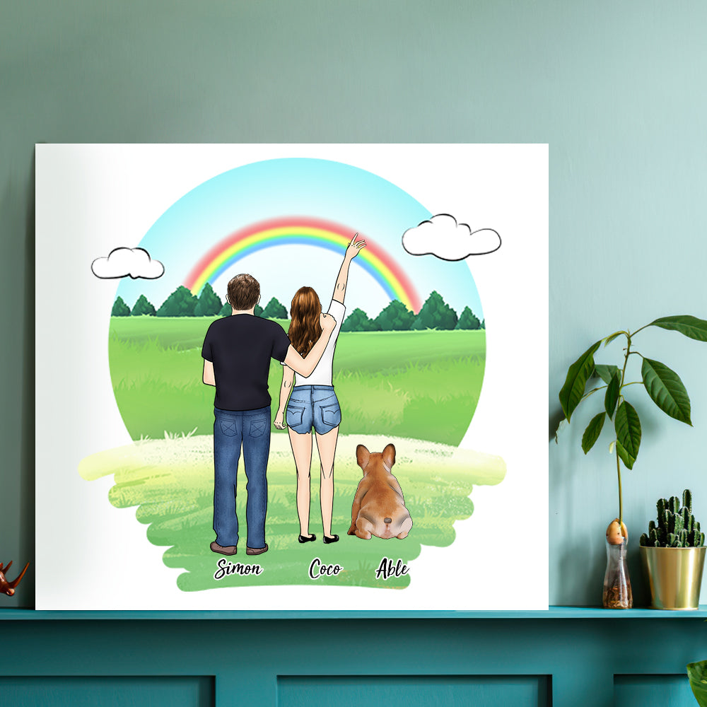 Custom Family Square Canvas - Pet Loves(Online Design & Preview)