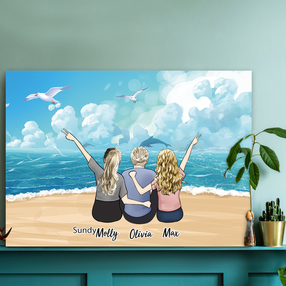 Custom Pet Canvas - A Wonderful Gift Of Time With 2-8 Members