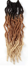 Color #3T30613 - Nu Locs Crochet Braiding Hair - 6 Packs