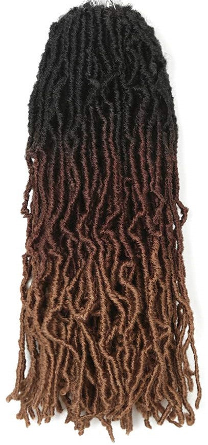 Color #T1B3027 - Nu Locs Crochet Braiding Hair - 6 Packs