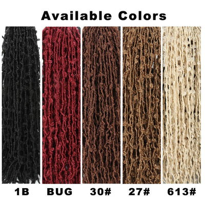 Butterfly Locs Crochet Hair 7 Packs Pre Looped Distressed Locs Crochet Braids Faux Locs