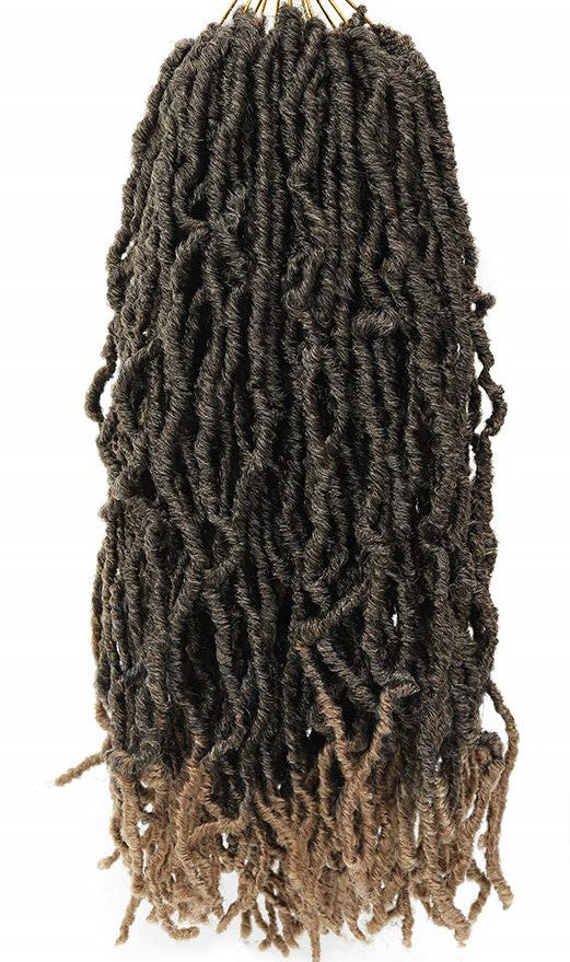 Color #T1b/27 - Nu Locs Crochet Braiding Hair - 6 Packs