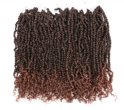 "Color #T1B/30 - 18"" Pre-twisted Passion Twist Crochet Hair - 8 Packs/96 Strands"