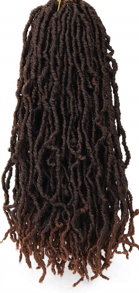 Color #T1B/30 - Nu Locs Crochet Braiding Hair - 6 Packs