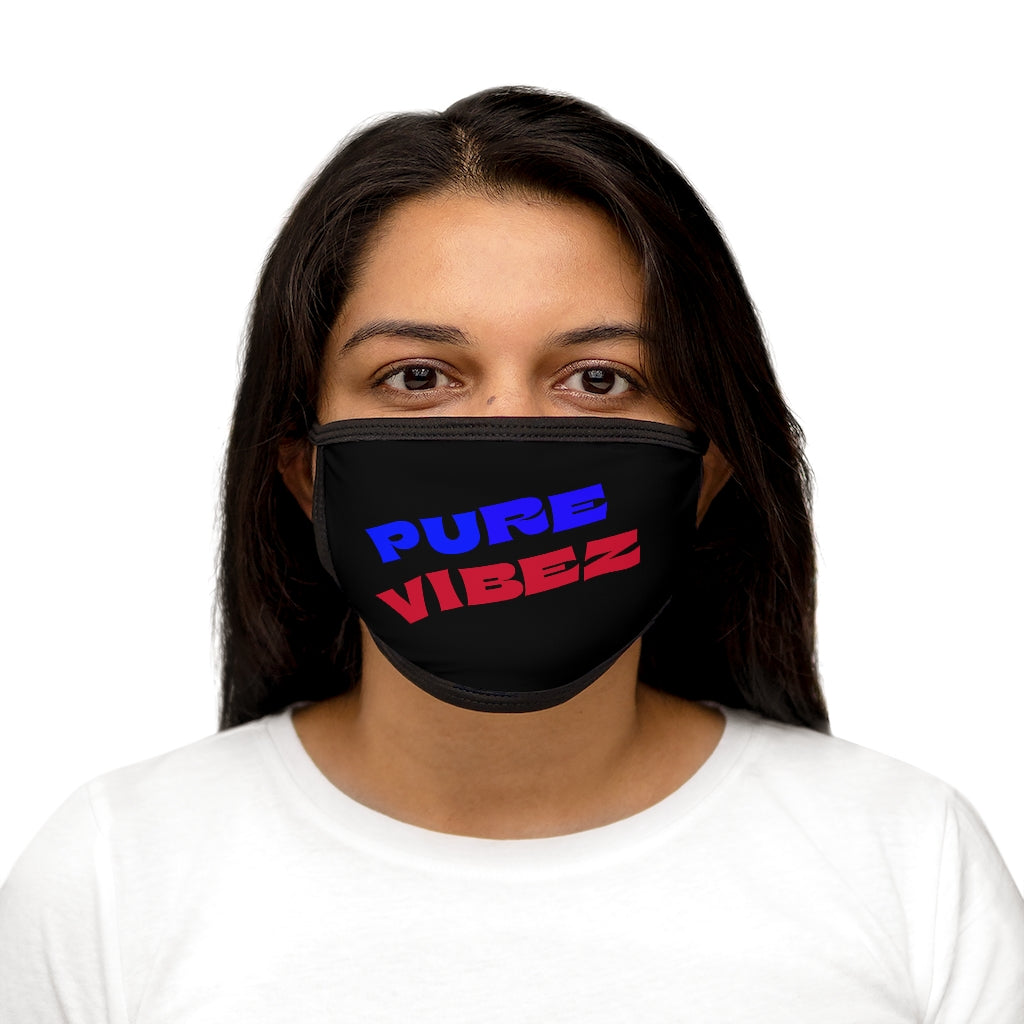 PURE VIBEZ (BL/Red) Fabric Face Mask