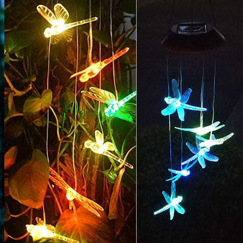 Solar Power Dragonfly Wind Chimes