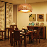 Japanese Bamboo Pendant Light Lamp