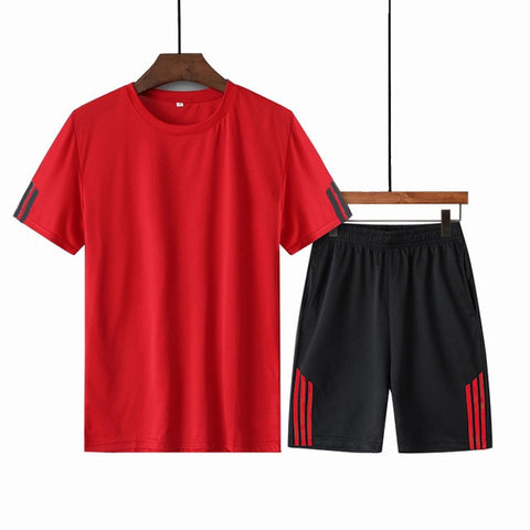 Men Shorts + T shirt 2 Pieces Sets Plus Size 4XL