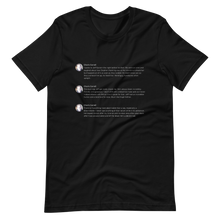 Load image into Gallery viewer, Epstein Tweets T-Shirt (Dark Mode)