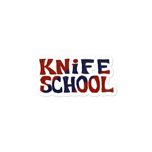 Knife School Sticker