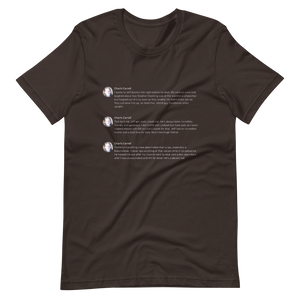 Epstein Tweets T-Shirt (Dark Mode)