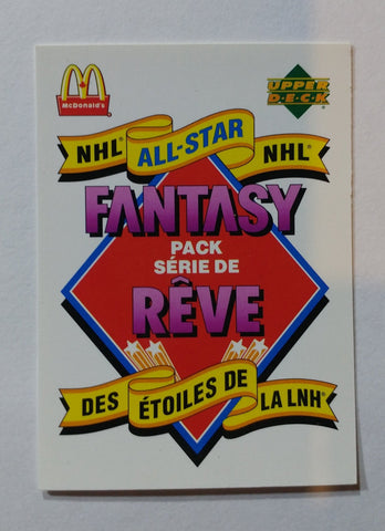 1993 Mcdonald's NHL All Stars Fantasy Pack Base Card Set (1-27)