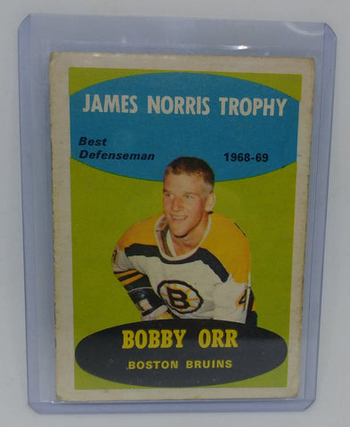 1969-70 O-Pee-Chee Bobby Orr James Norris Trophy Card