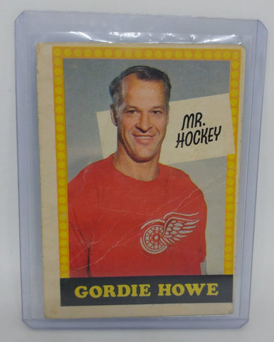 1969-70 O-Pee-Chee Mr Hockey Gordie Howe Numbered Card