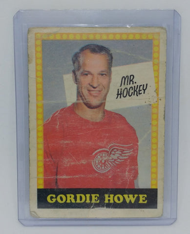1969-70 O-Pee-Chee Mr Hockey Gordie Howe No Number Card