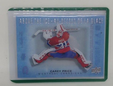2015-16 Carey Price Tim Hortons Above the Ice Card
