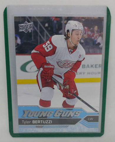 2016 -17 Tyler Bertuzzi Upper Deck Young Guns Rookie Card