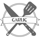 """Culinarie Kit Logo with the word """"Garlic"""""""
