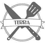 """Culinarie Kit Logo with the word """"Terra"""""""